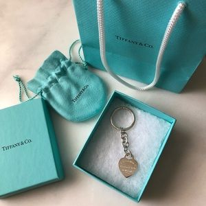 Return to Tiffany Heart Tag Key Ring